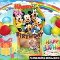 Fotomontajes de cumpleaños infantiles para niños