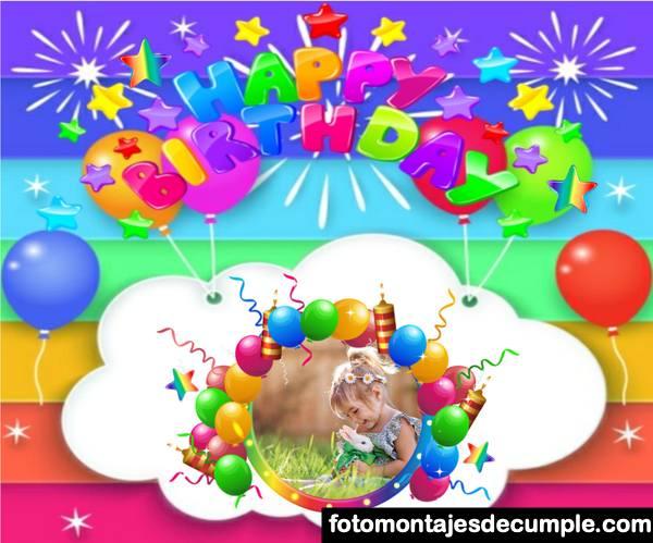 Fotomontajes de cumpleaños para niños