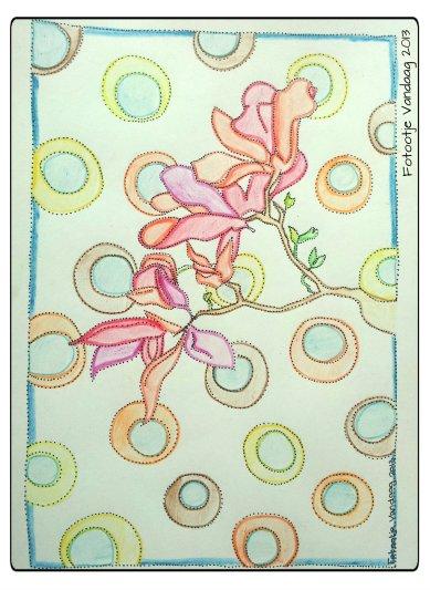 Deze tekening is voor Ellen, van het vrolijke blog http://ietsiepietsiekitschie.blogspot.nl