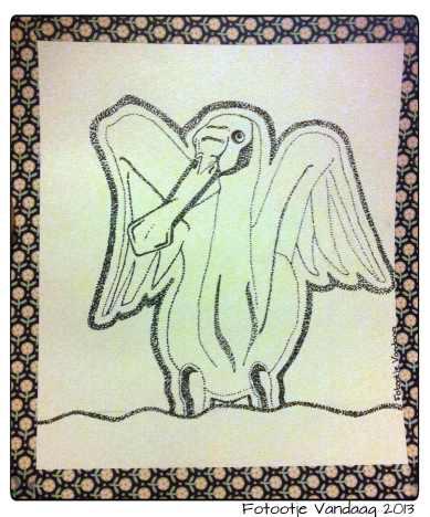 """""""De Vreemde vogel"""" voor Anita W."""