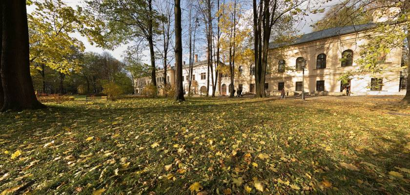 Park w Żywcu - jesień 2010