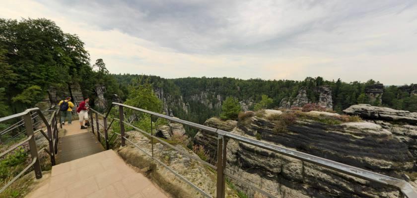 Bastei - skalne bastiony - wycieczka wirtualna