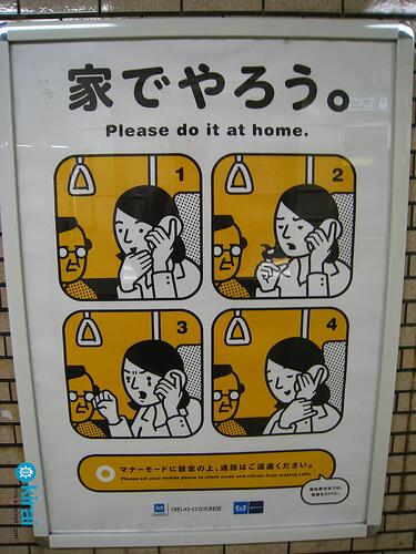 Cartel de Prohibido Hablar por telefono