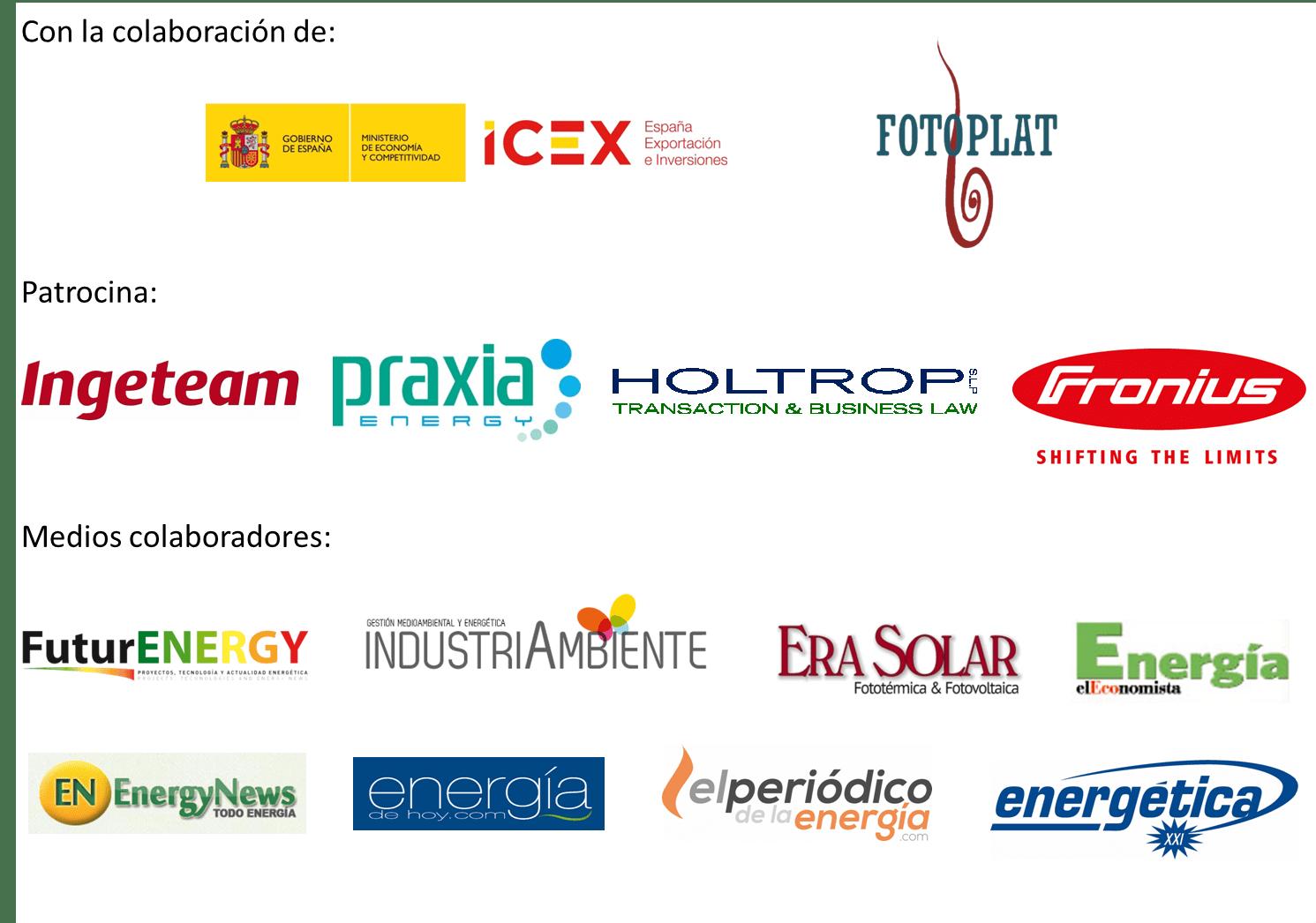 Patrocionios II Foro Solar Español