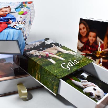 Empaque Creativo para Regalo Personalizado + 100 Fotografías Impresas 135 Gr.