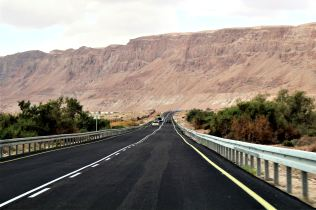 droga wzdłuż Jordanu