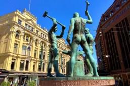 Rzeźba Trzech Kowali