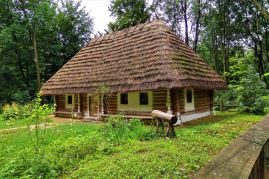 Dom z Bereżhonki, obwód vyzhnytsia, obwód Czerniowce, koniec XIX - początek XX wieku