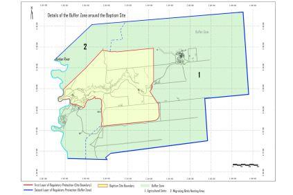 mapa Babtism Site