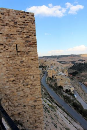 Wschodnia część zamku Al-Karak