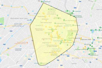 Bruksela centralna - mapa obecnie