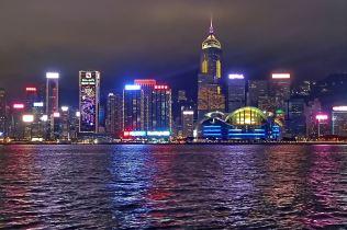 Tsim Sha Tsui - widok na Wyspę Hongkong
