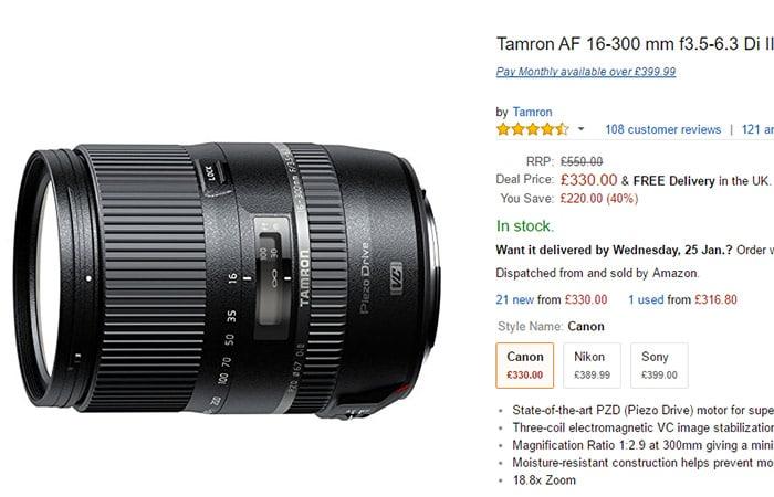 16-300mm para Canon en Amazon.co.uk