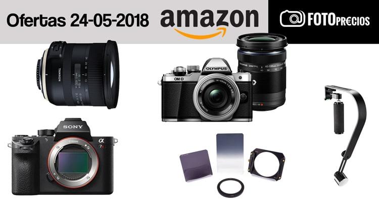 Ofertas fotográficas del 24 de mayo en Amazon.