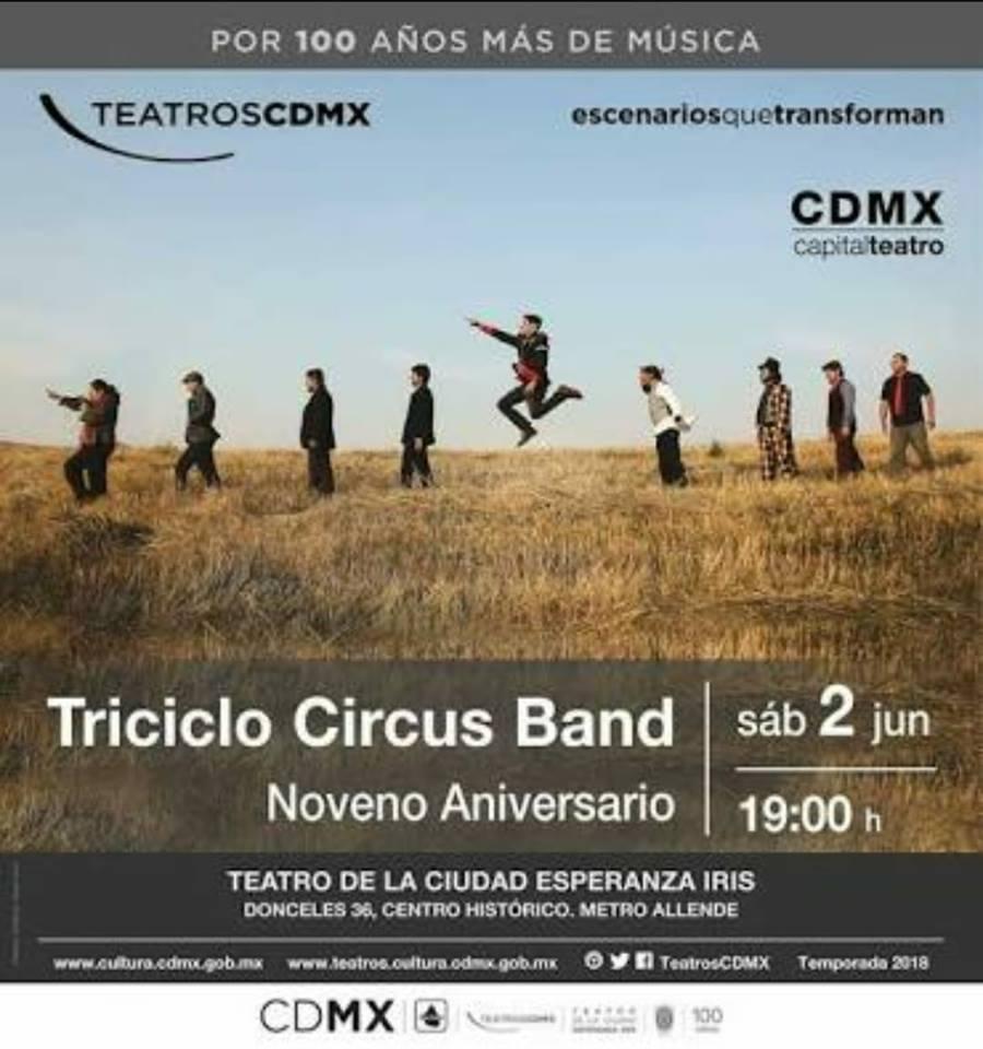 Noveno Aniversario de Tricilo Circus Band
