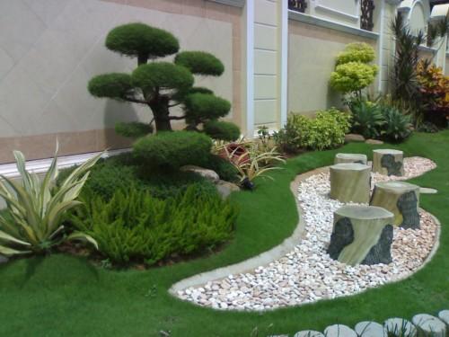 12 Taman Rumah Minimalis Modern Depan Rumah 2019