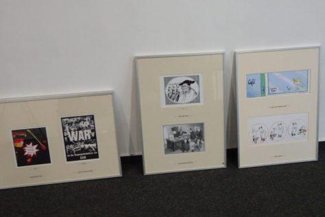 Karikaturen aus dem Bestand der Cartoonlobby. Foto: Ulrich Horb
