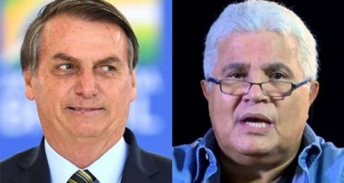 Fotomontagem: Jair Bolsonaro e Ricardo Noblat