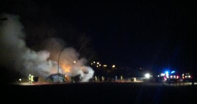 Vorschaubild : Brand auf Reiterhof Mescherin