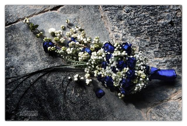 bouquet con rose blu
