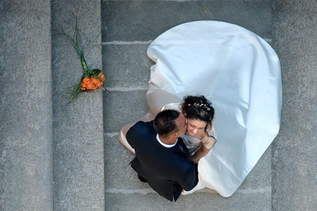 un bacio sulle scale