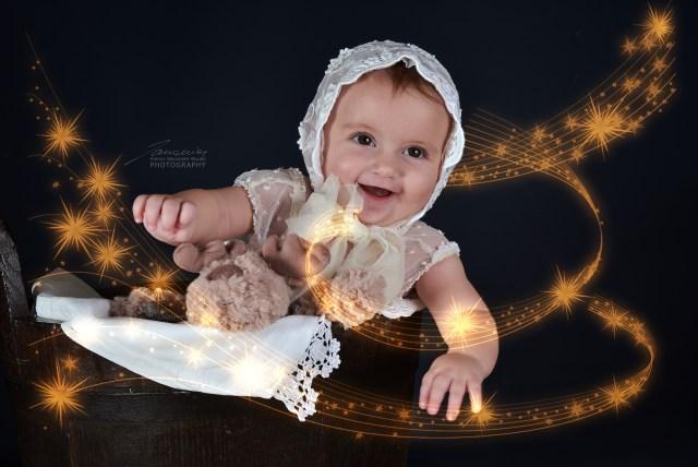 Il sorriso di Francesca Maria ha suscitato in tutti noi una grande gioia, durante il servizio fotografico i oggi.