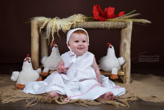 La mamma di Sofia ci ha chiesto di realizzare delle fotografie per gli inviti del Battesimo