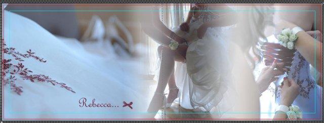 Prima pagina dell'album di matrimonio di Rebecca e Beppe