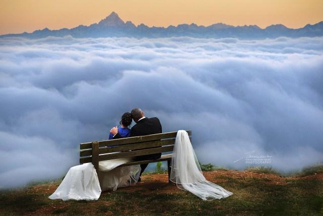 In due, soli sopra le nuvole #fotografomatrimoni #fotosacconier #francosacconier #fotografopermatrimonio