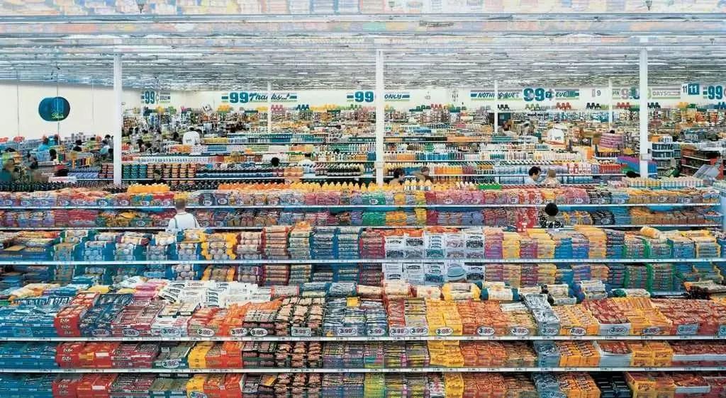99 centavos (Andreas Gursky, Los Angeles, 1999)