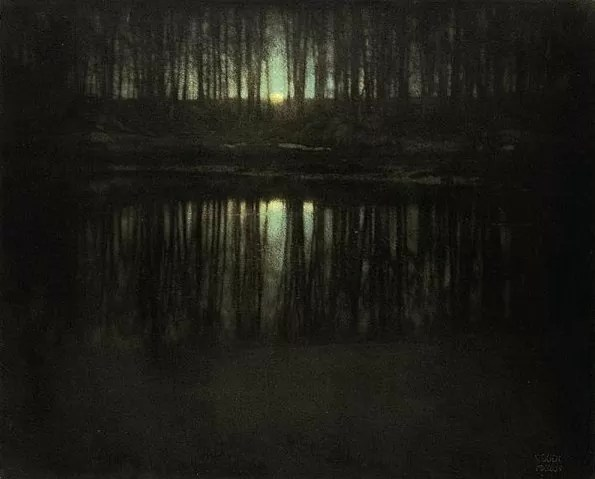 Luz de la luna: el estanque (Edward Steichen, Estados Unidos, 1904)