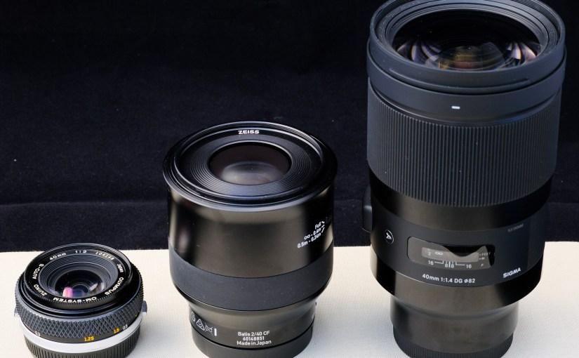 My Crazy Lenses / Meine sehr speziellen Objektive – No.1: Focal-Length 40 mm / Die Brennweite 40 mm