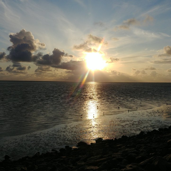 Sundown over the Nordsee, Büsum, Germany