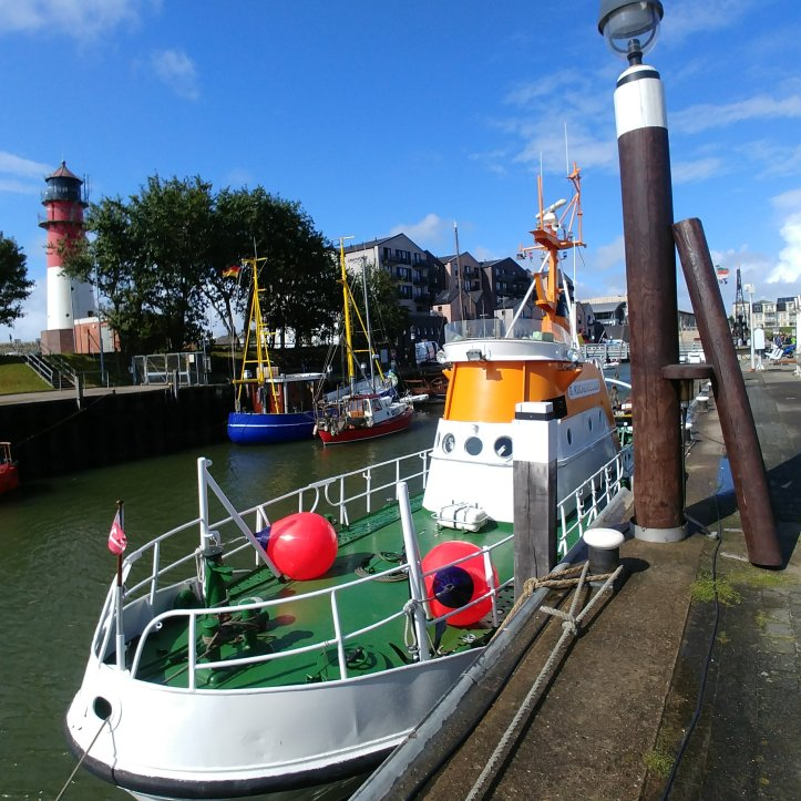 Colorful boats in Büsum harbour, Germany, photo ny fotosbykarin