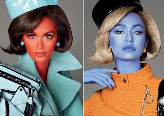 Kultur,Lifestyle, Medien,Kommunikation,Moschino,Model,Supermodels,Aliens,Mailand