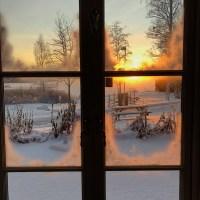 Bilder tagna med iPhone X - vinterlandskap i Arvika