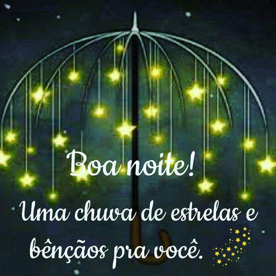 Boa noite com chuva de bençãos para todos que amamos