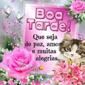 Boa tarde com amor e carinho te desejo felicidades e uma tarde abençoada