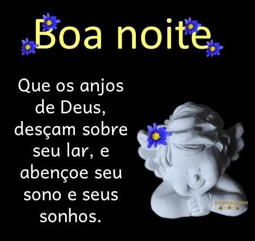 Boa noite com os anjos de Deus