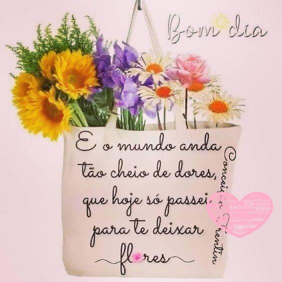 Passei para deixar flores e desejar bom dia
