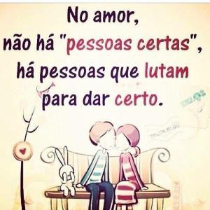 Quando o amor é verdadeiro e alguém te ama de verdade