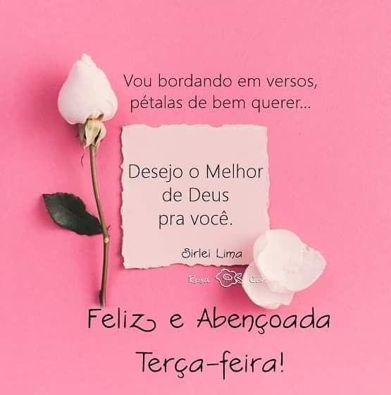 Bom dia e feliz terça com o melhor de Deus