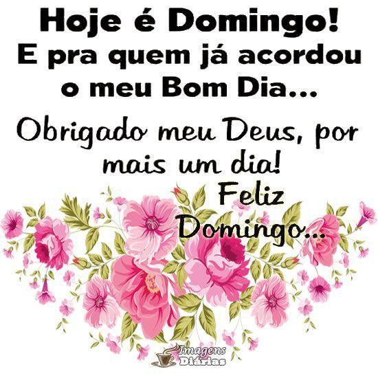 Bom dia feliz domingo Deus abençoe