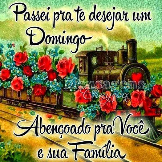 Abençoado domingo pra você e sua família