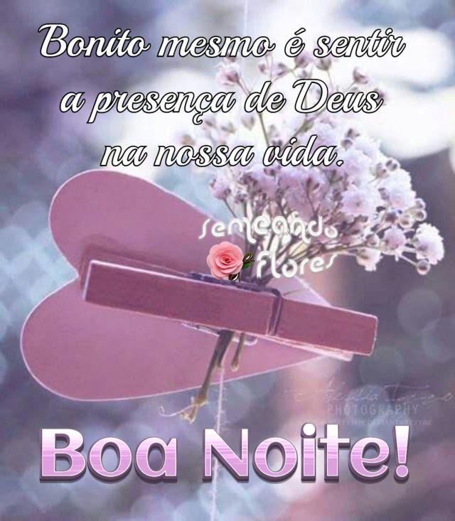 Boa noite com a presença de Deus
