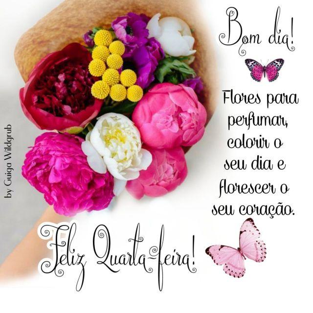 Feliz quarta-feira, flores para perfumar