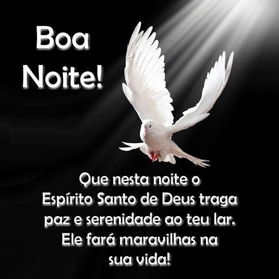 Que nesta noiteo Espírito Santo de Deus traga paz