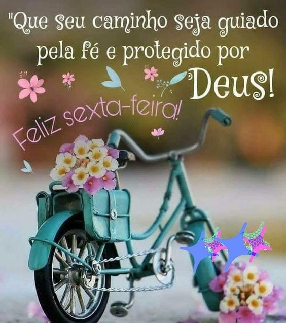 Que seu caminho seja guiado pela fé feliz sexta feira