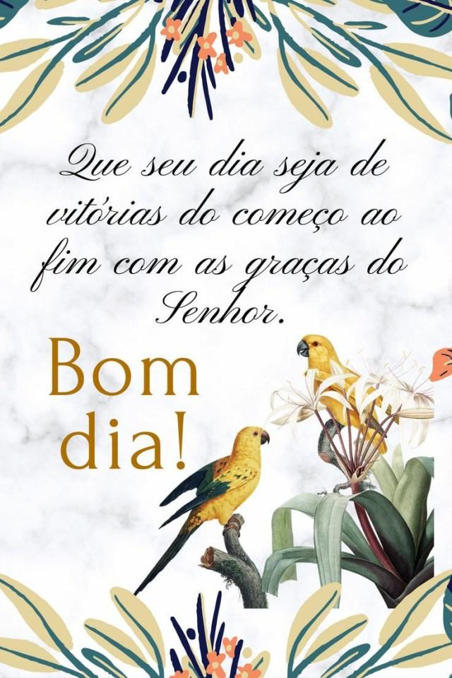 Que o seu dia seja de vitorias do começo ao fim com as graça do Senhor, bom dia!
