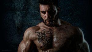 Foto eines Bodybuilders, Fotograf Eugen Wagner